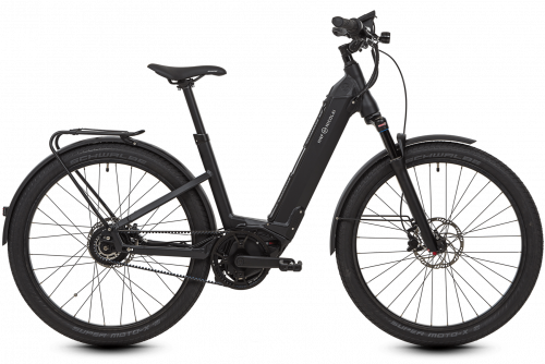 HNF Nicolai UD3 All-Terrain Aluminum e Bike Full Black