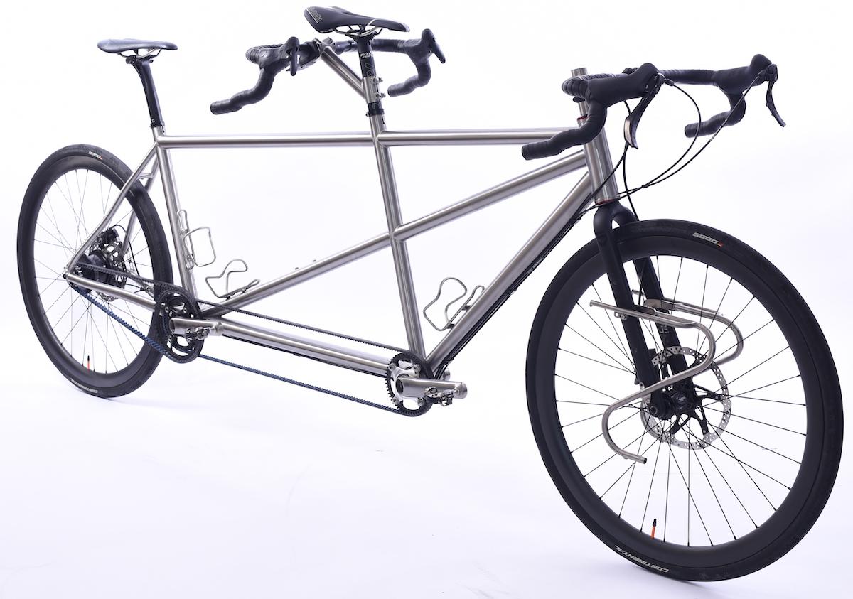 Unser neues Custom Titan Rohloff Tandem in L / L Größe mit nur 13 kg Gesamtgewicht.