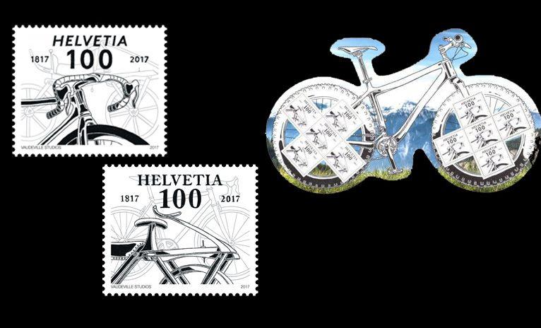Neue Swiss Post Fahrrad Sondermarken erhältlich